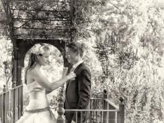 Fotos de boda, Lourdes y David. Fotógrafa: Lourdes Martín Montilla. Martinmontilla photography. Novios sobre el puente