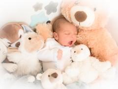 Fotografía de Hugo recién nacido. Martinmontilla Creative Studio